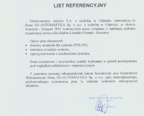 Elektromontaż Gdańsk S.A. dla Lotniska Poznań - Krzesiny