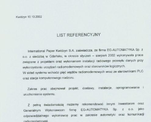 International Paper Kwidzyn S.A.
