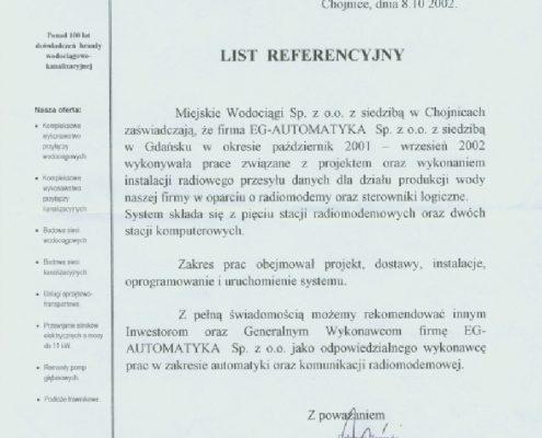 Miejskie Wodociągi sp. z o.o.Chojnice